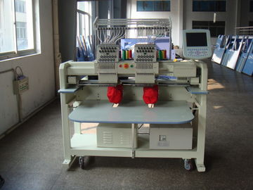 12 Needle Double Head Embroidery Machine For Hats / Bags / Pants