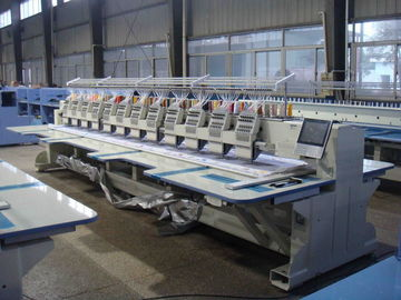 Commercial Computerized Embroidery Machine For Flat Bed 12 Heads